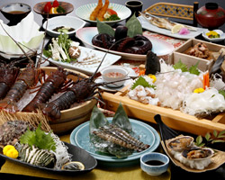 島の幸コースの料理写真