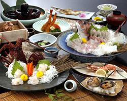 海の幸コースの料理写真