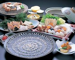 ふぐ魚醤焼コースの料理写真